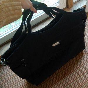 Vera Bradley large black quilted satchel